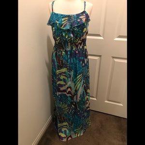 Faded Glory Maxi Dress Size Large (12-14)